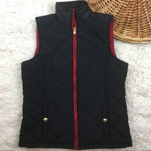 Ralph Lauren black quilted spell out puffer vest